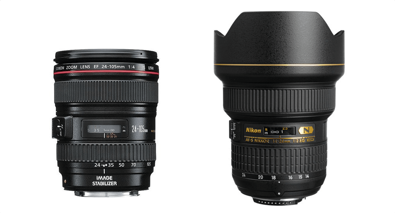 Siglas das lentes Canon e Nikon